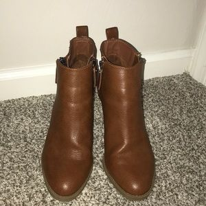 Universal Thread Brown Faux Leather Booties